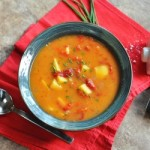 Roasted Red Pepper and Potato Soup