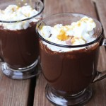 Salted Carmel Hot Cocoa with Whipped Cream