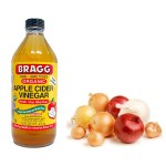 Apple cider vinegar and onion juice for age spots