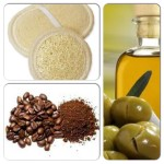 Coffee grounds and oil for cellulite