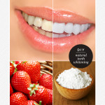 Strawberries and baking soda for teeth whitening