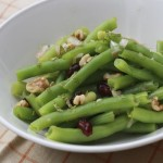 Green Bean Salad with Walnuts and Dried Cranberries