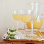 sparkling pear and lime spritzers