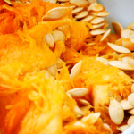 pumpkin pulp and seeds